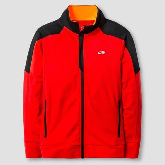 Champion C9 V9566 Boys Performance Full Zip Jacket SMALL (6-7) Red & Black NWT - Better Bath and Beauty