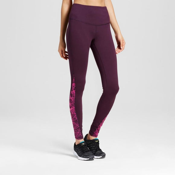 Champion C9 Women's Freedom High Waist Leggings XS X-SMALL Burgundy & Pink - Better Bath and Beauty