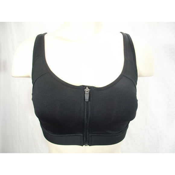 Champion N9643 Power Shape Max Zip Front Wire Free Sports Bra SMALL Black - Better Bath and Beauty