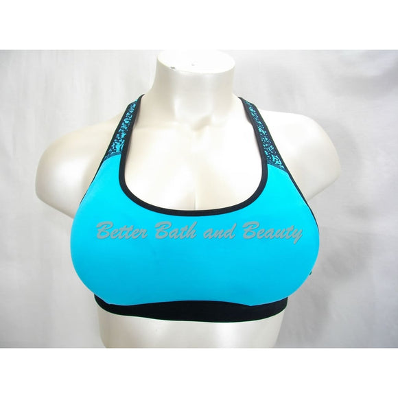 Champion N9678 Power Core Compression Padded Racerback Sports Bra XL X-LARGE Aqua & Black - Better Bath and Beauty