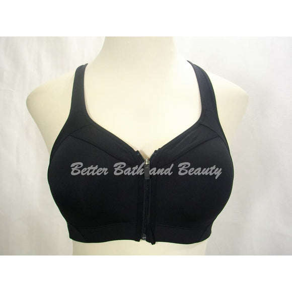 73bfc025f Champion N9707 Power Shape MAX High Support Zip Front Close Sports Bra 34D  Black NWT -