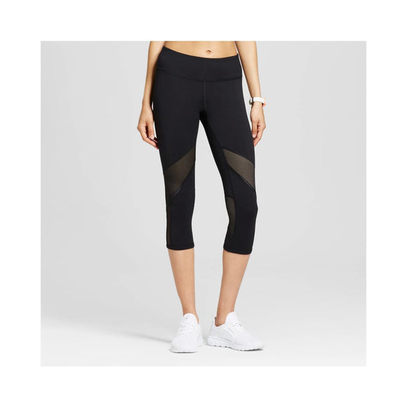 Champion Women's Freedom Mesh Capri Leggings Size XS X-SMALL Black - Better Bath and Beauty