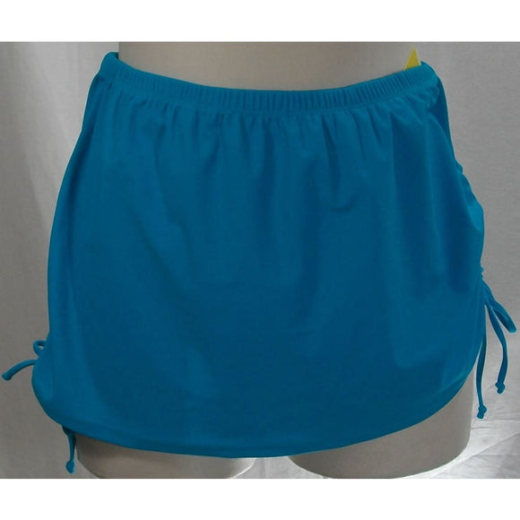 Costa del Sol JUNIORS Adjustable Side Ties Swim Suit Skirt 0X Size 14-16 Teal Blue - Better Bath and Beauty