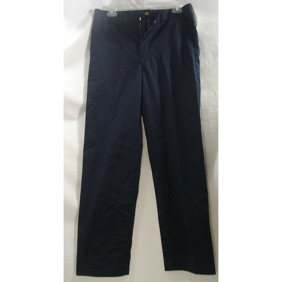 Dickies KP123DN Boys Flex Waist Flat Front Pants Classic Fit Size 20 Regular 20R Navy Blue - Better Bath and Beauty