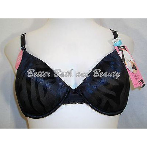 DISCONTINUED Maidenform 7122 One Fabulous Fit Jacquard Satin Underwire Bra 34B Black NWT - Better Bath and Beauty
