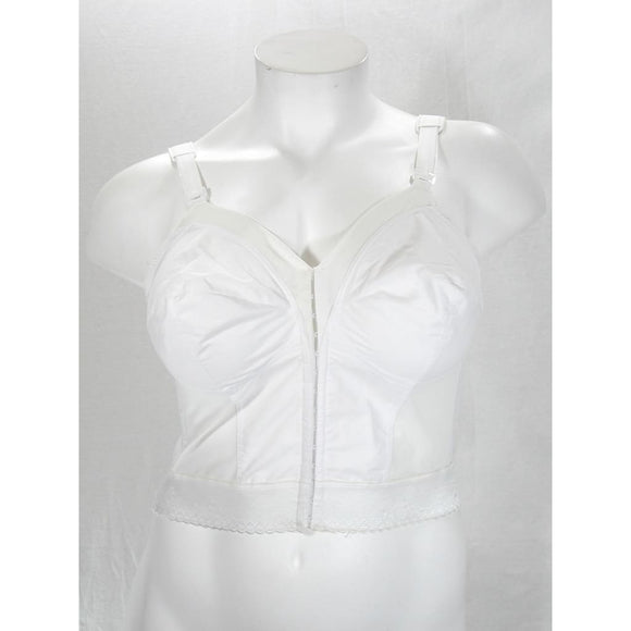 Exquisite Form 7530 Long Line Front Close Posture Bra 34B White NEW WITHOUT TAGS - Better Bath and Beauty