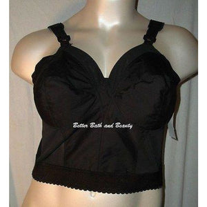 Exquisite Form 7532 Longline Posture Bra 44C Black NEW WITHOUT TAGS - Better Bath and Beauty