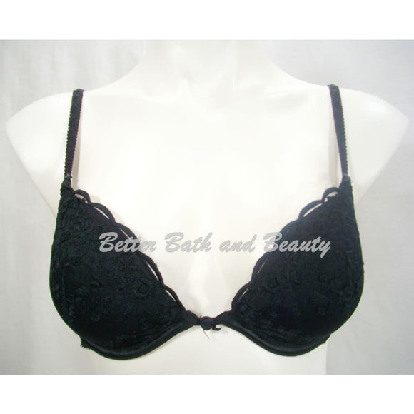 Felina 15344 Embroidered Lace Covered Push Up Underwire Bra 32C Black - Better Bath and Beauty
