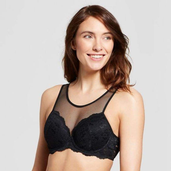 Gilligan & O'Malley Everyday Lace Lightly Lined Bra 36B Ebony Black - Better Bath and Beauty