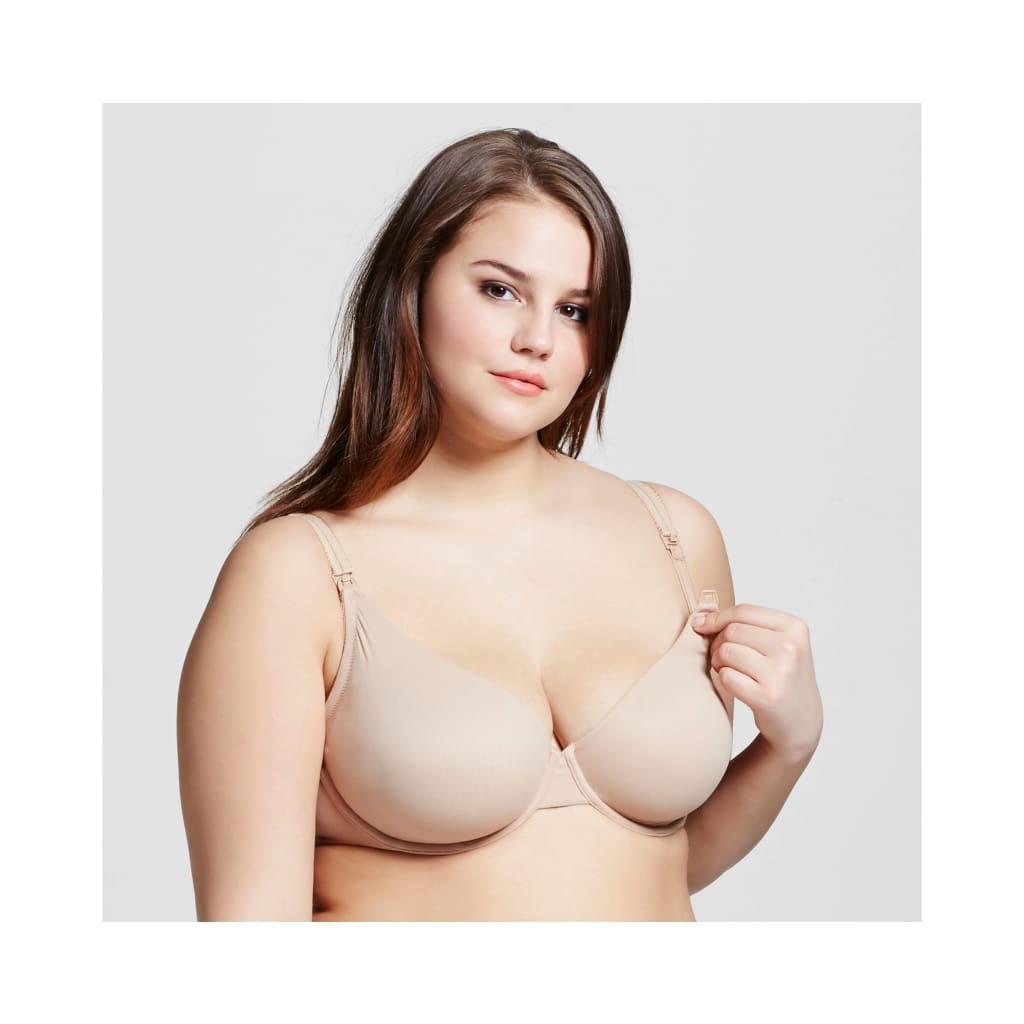 87831c114dd Gilligan   O Malley Everyday Unlined Nursing Underwire Bra 38DDD Honey Beige  NWT - Better ...