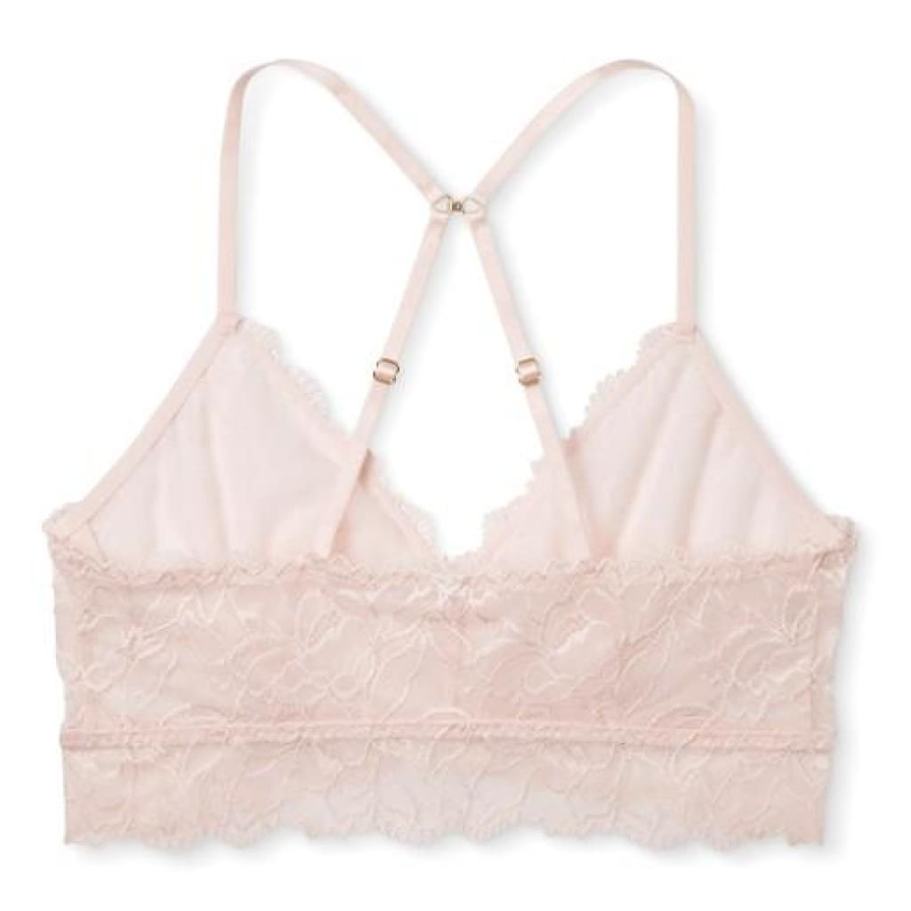 409b2fc44c ... Gilligan   O Malley Floral Lace Bralette Bra Size XS X-SMALL Crystal  Pink