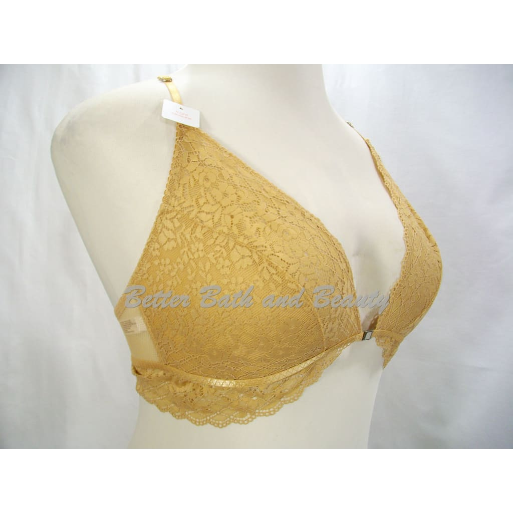 6b62ed6be4a31 ... Gilligan O Malley Front Close Sheer Lace Y-Back Wire Free Bra Bralette  XL ...