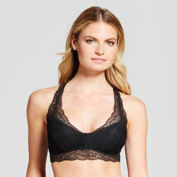 Gilligan & O'Malley Lace Pullover Racerback Bralette SMALL Black NWT - Better Bath and Beauty