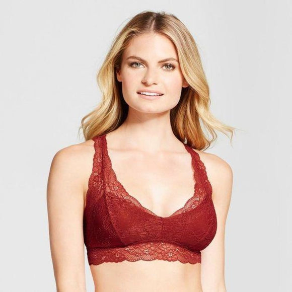 Gilligan & O'Malley Lace Racerback Wire Free Bralette X-LARGE Salsa - Better Bath and Beauty