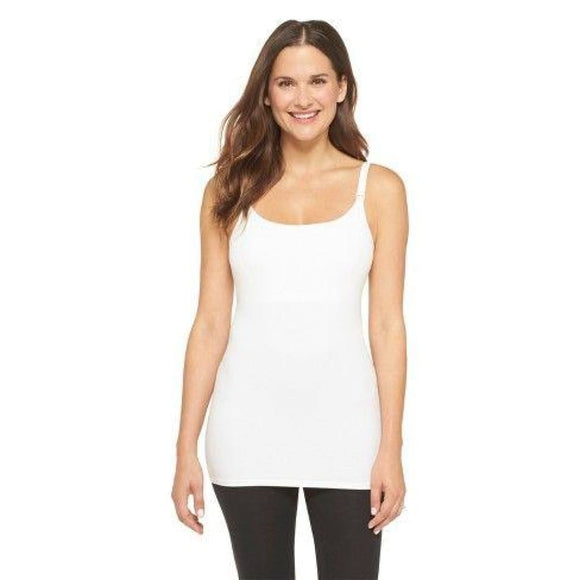 Gilligan & O'Malley Nursing Cotton Cami Camisole Top Size MEDIUM White NWT - Better Bath and Beauty