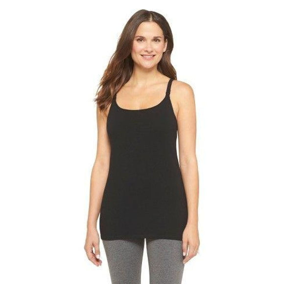 Gilligan & O'Malley Nursing Cotton Cami Camisole Top Size X-LARGE Black - Better Bath and Beauty
