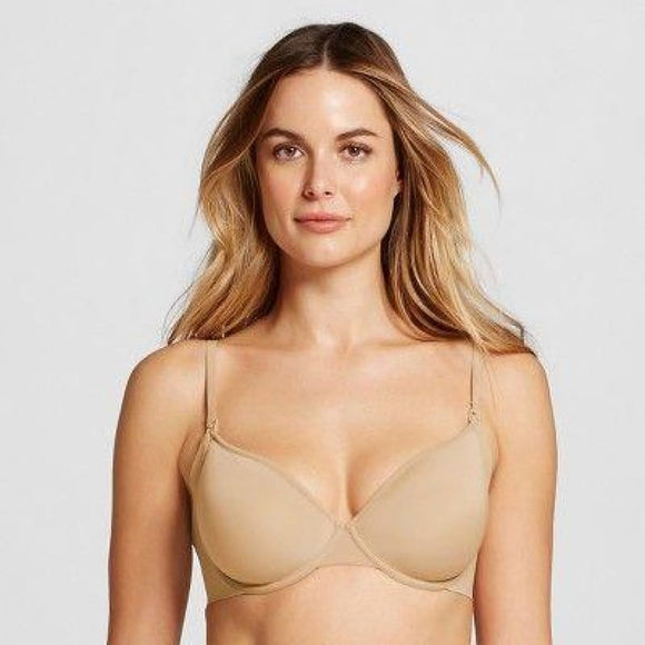 Gilligan & O'Malley Nursing Everyday Lightweight Smoothing Underwire Bra 38D Honey Beige NWT - Better Bath and Beauty