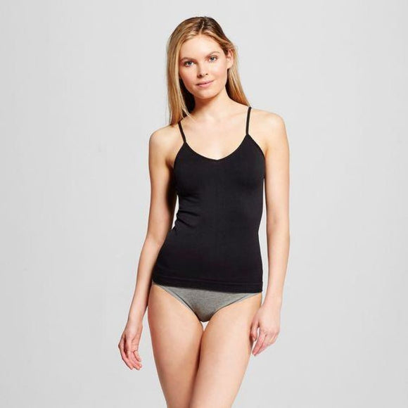 Gilligan & O'Malley Seamless Cami Camisole Size MEDIUM Black NWT - Better Bath and Beauty