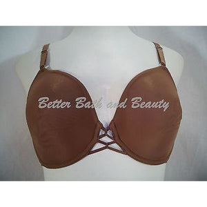 Gilligan O'Malley Seamless Unlined Cup Love Knot Underwire Bra 34D Brown - Better Bath and Beauty