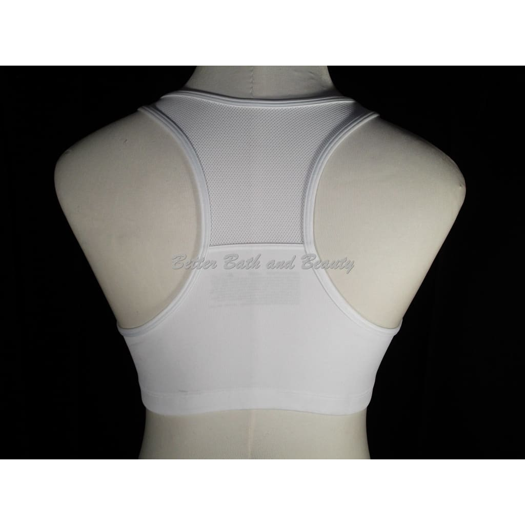 0661f5fe0b ... Hanes G469 HC32 Wire Free Zip Front Vented Back Sports Bra SMALL White  NWT - Better