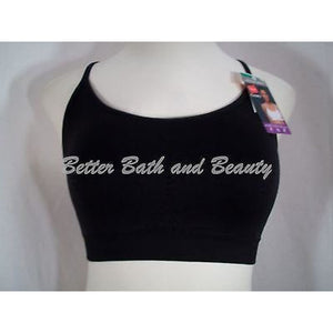 Hanes HC68 Active Cami Pullover WireFree Bra LARGE Black NWT - Better Bath and Beauty