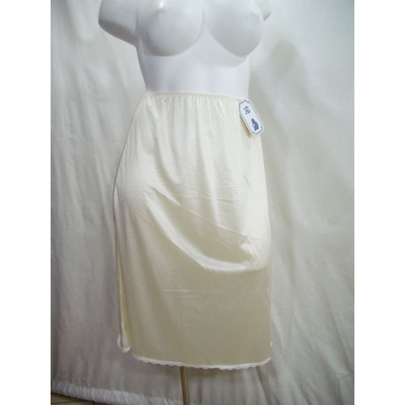 Heavenly Shapewear Style 9130X Satin Half Slip 26 Inch Length Size 2X Ivory NWT - Better Bath and Beauty