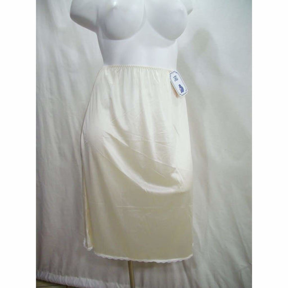 Heavenly Shapewear Style 9130X Satin Half Slip 26 Inch Length Size 4X White NWT - Better Bath and Beauty