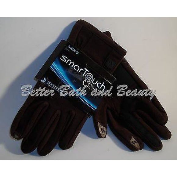 Isotonoer MENS Smart Touch SmarTouch Touch Screen Compatible Gloves LARGE Brown - Better Bath and Beauty