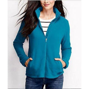 Land End 443344 Women Polartec Aircore 200 Fleece Jacket XS XSMALL 2-4 Teal - Better Bath and Beauty