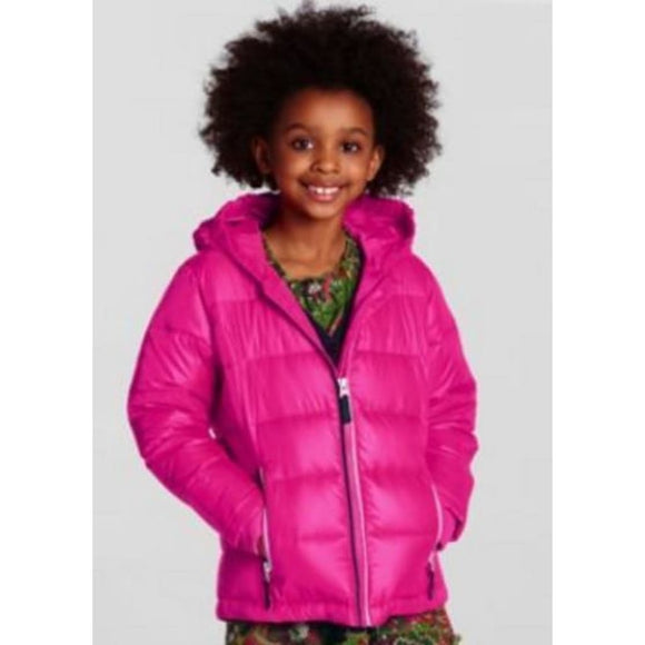 Lands End 418908 BIG GIRLS Down Puffer Jacket XL Size 16 Electric Pink NWT - Better Bath and Beauty