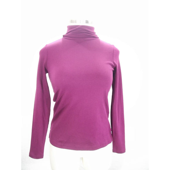 Lands End 419583 100% Supima Cotton Shaped Turtleneck REGULAR XS 2-4 Wineberry NWT - Better Bath and Beauty