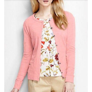 Land's End 439817 Lightweight Button Cardigan XS X-SMALL 2-4 Conch Pink - Better Bath and Beauty