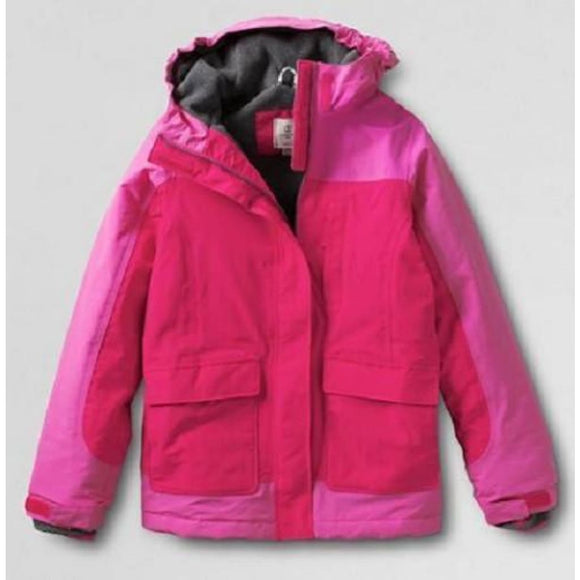 Lands End 443513 Big Girls SIZE XL 16 Girls Squall Parka Vibrant Fuschia NWT - Better Bath and Beauty