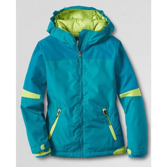 Land's End 443600 Little Girls Stormer Jacket LARGE (6X-7) Capri Breeze NWT - Better Bath and Beauty