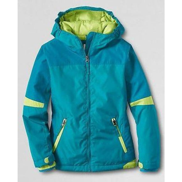 Lands End 443600 Little Girls Stormer Jacket Small (4) Capri Breeze Nwt Girls Outerwear