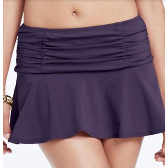 Lands End Beach Club Flounce Swim Suit Mini Skirt SwimMini 6 Deep Wine 438216 - Better Bath and Beauty