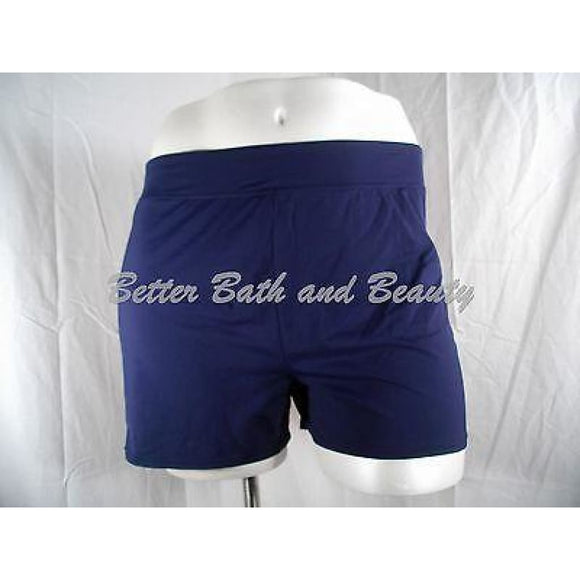 Lands End Beach Living Swim Shorts w/Tummy Control Size 2 Deep Sea Blue 347229 - Better Bath and Beauty