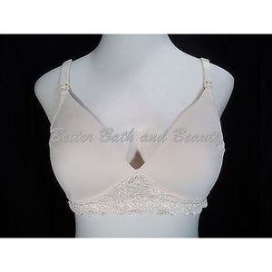 Leading Lady 405 Molded Seamless Lace-Frame Wirefree Nursing Bra 36D Ivory - Better Bath and Beauty