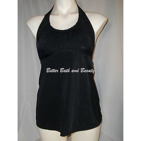 Liz Lange Maternity Halter Tankini Swim Suit Top SMALL Black NWOT - Better Bath and Beauty