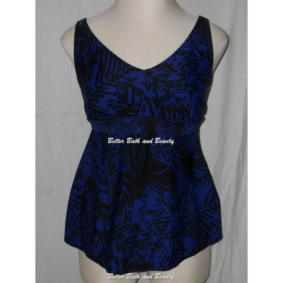 Liz Lange Maternity Tankini Swim Suit Top Size MEDIUM Blue Purple Black NWOT - Better Bath and Beauty