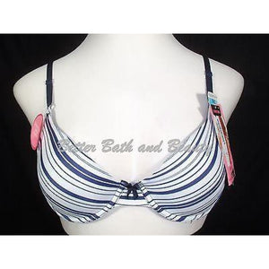 Maidenform 7959 One Fabulous Fit Demi Underwire Bra 34C Navy Blue Stripes NWT - Better Bath and Beauty