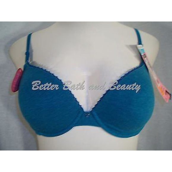 Maidenform 9279 Cotton Signature Push Up Underwire Bra 34C Teal NWT DISCONTINUED - Better Bath and Beauty