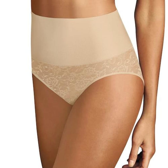 Maidenform DM0051 Shapewear Tame Your Tummy Brief LARGE Nude Lace NWT - Better Bath and Beauty