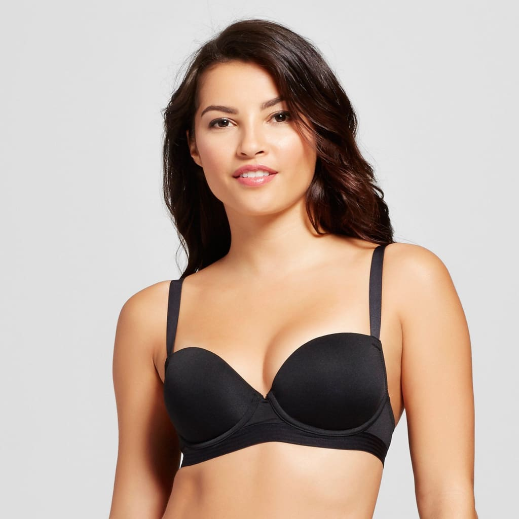 34D Maidenform Self Expressions Women/'s i-Fit Bra Carbon Gray Black Lace NEW