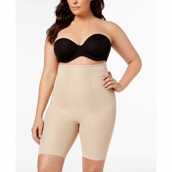 Miraclesuit 2709 Extra Firm Tummy-Control High Waist Thigh Shaper Slimmer LARGE Nude - Better Bath and Beauty