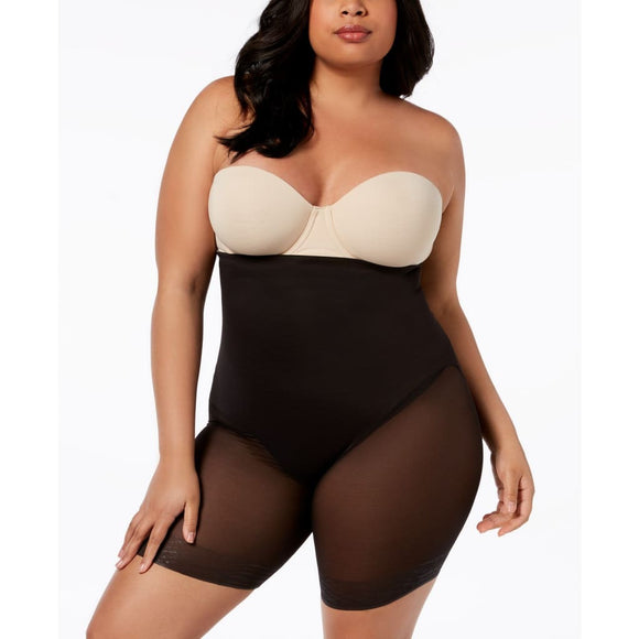 Miraclesuit 2789 Extra Firm Tummy-Control Sheer Trim Thigh Slimmer 2XL Black - Better Bath and Beauty