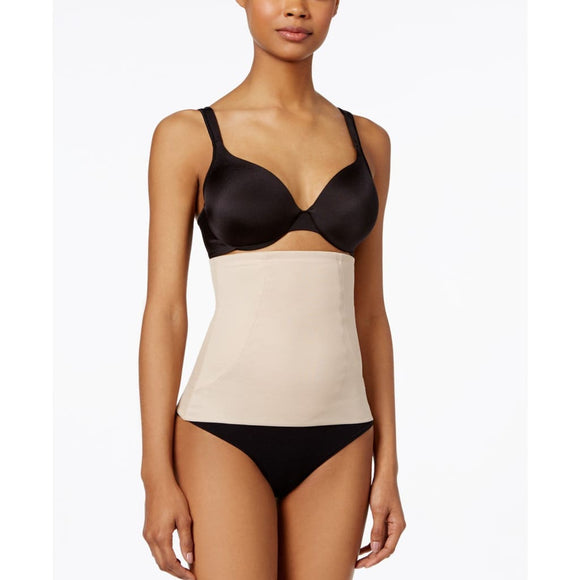 Miraclesuit 2913 Shape Away With Back Magic Waist Trimmer Extra-Firm Control Waist Cincher LARGE Nude - Better Bath and Beauty