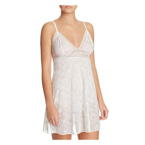 Natori Floral Trellis Lace Chemise XL X-LARGE White NWT - Better Bath and Beauty