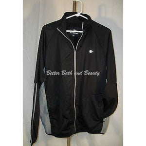 Nordictrack Sports Athletic Tricot Full Zip Jacket Size Large Black NWT - Better Bath and Beauty