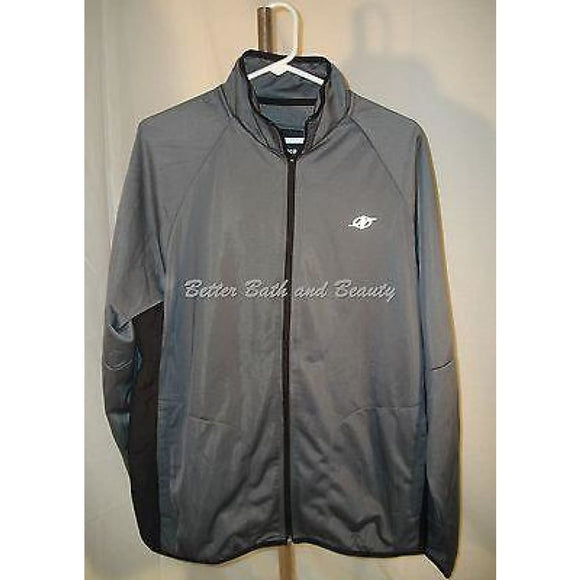 Nordictrack Sports Athletic Tricot Full Zip Jacket Size Large Charcoal Gray NWT - Better Bath and Beauty